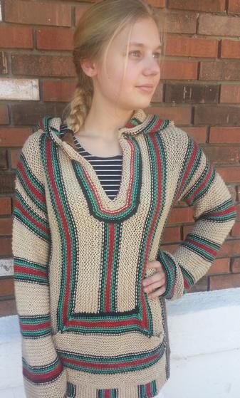 Retro Hippie Hoodie Knitness Pinterest Crochet Knitting Ideas