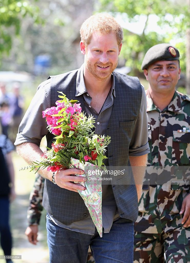 Prince Harry visits the Gurka base in Bardia on day three of his visit to Nepal on March 21, 2016 in Bardia, Nepal. Prince Harry is on a five day visit to Nepal, his first official tour of the country.