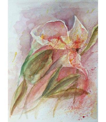 Fiori 5 Lettere.Fiore 1 Livin Art Di Ilaria Perini Acquarello Su Carta Cm 35 X
