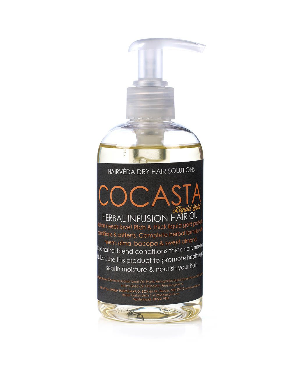 Curly Hair Products, Hairveda CoCasta Shikakai Oil 8oz