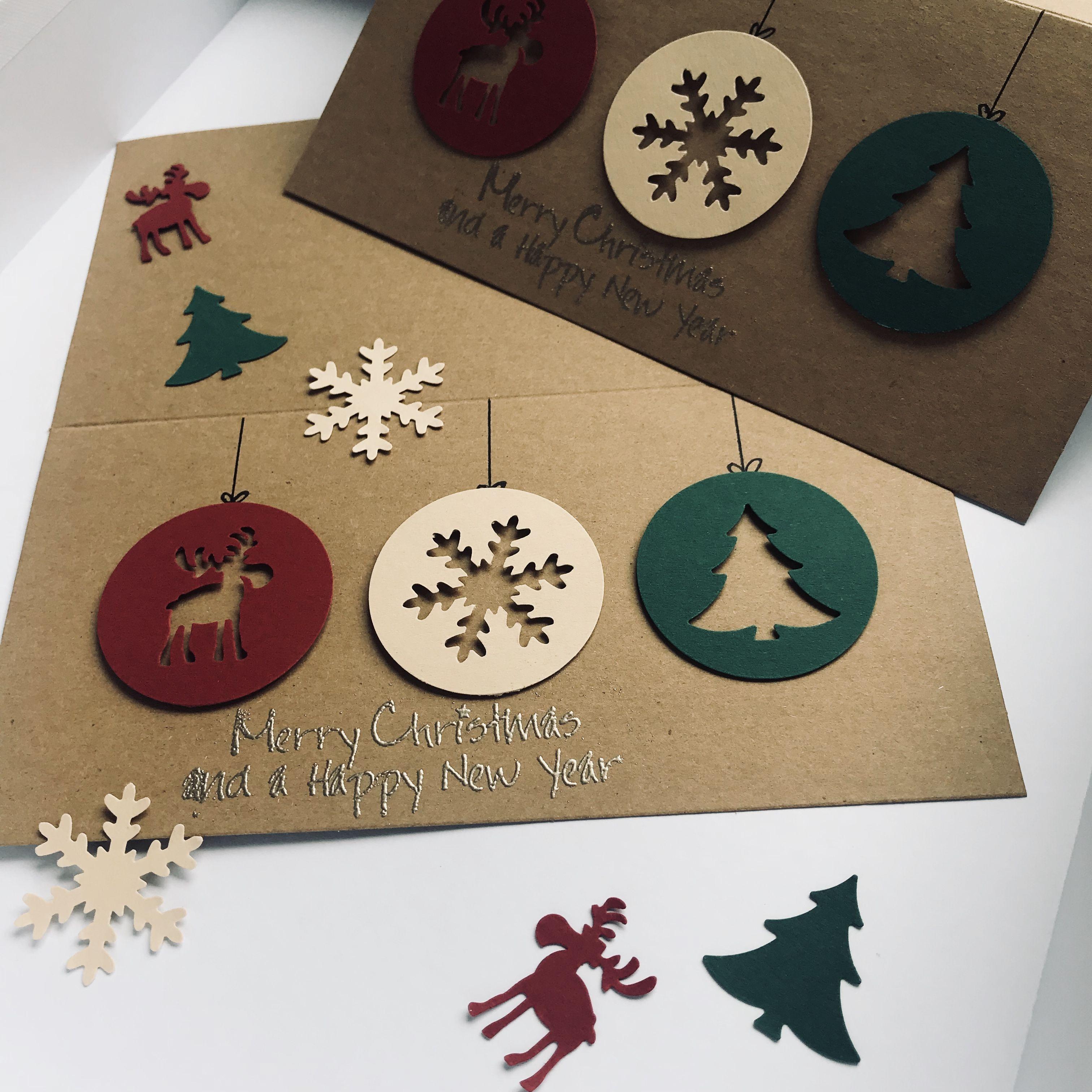weihnachtskarte diy stanzen easy einfach klassisch basteln. Black Bedroom Furniture Sets. Home Design Ideas