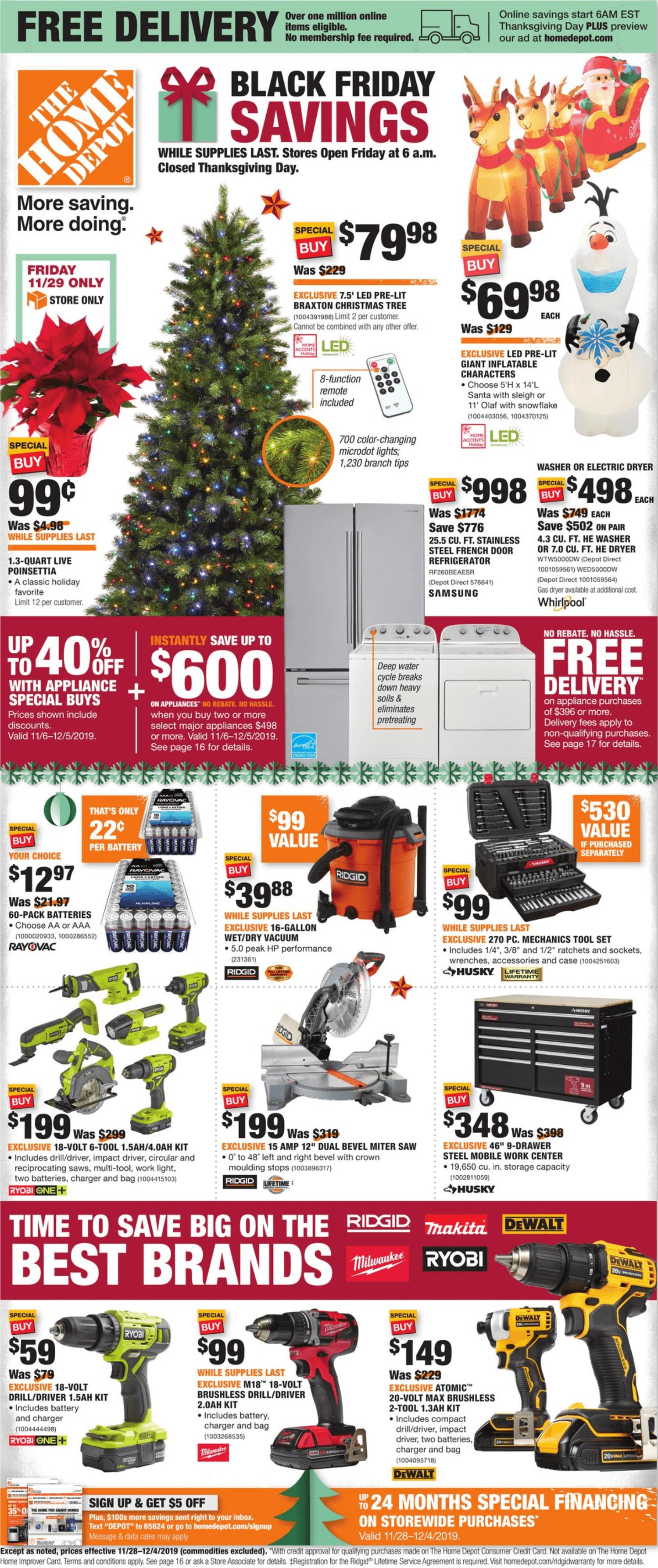 Black Friday 2020 Best Deals Today Page 5 Work Money Fun Home Depot Black Friday Ads Black Friday Hours