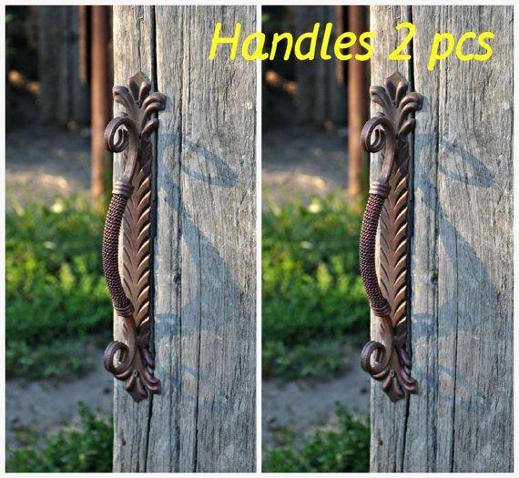 2 pcs Handles Wicket Gate Door Metal handle by MasterHandForged & 2 pcs Handles Wicket Gate Door Metal handle by MasterHandForged ...