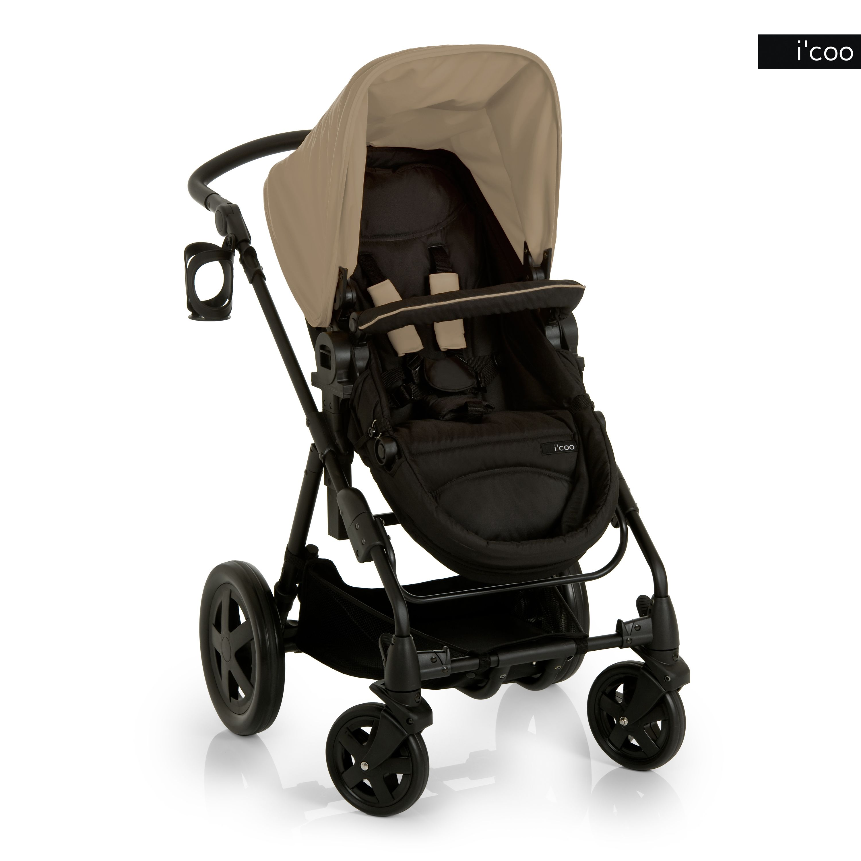 i coo n Stroller in Black Red Beige color is available now at