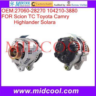 High Quanity Automotive Alternator Oem 27060 28270 104210 3880 Alternator Toyota Camry Automotive