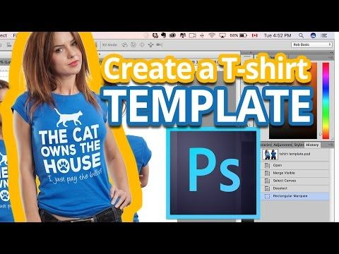 Download T Shirt Mockup How To Create A T Shirt Template In Photoshop Photoshop Tutorial Youtube Shirt Mockup Shirt Template T Shirt