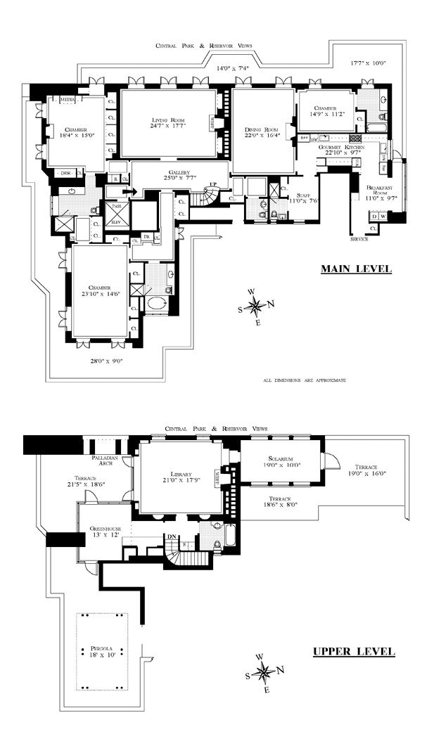 1040 Fifth Avenue New York Ny William Bill And Clementina Tina Flaherty Penthouse Floor Plan 617 1071 Floor Plans Apartment Floor Plans How To Plan