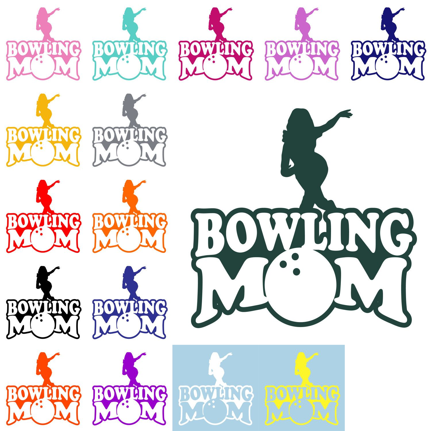 BOWLING MOM DECAL Bowling Mom Sticker Mom Decal Sports Mom - Window decals for sports