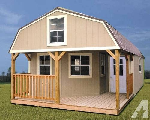 Rent to own storage sheds buildings barns cabins no for Pre built barn homes