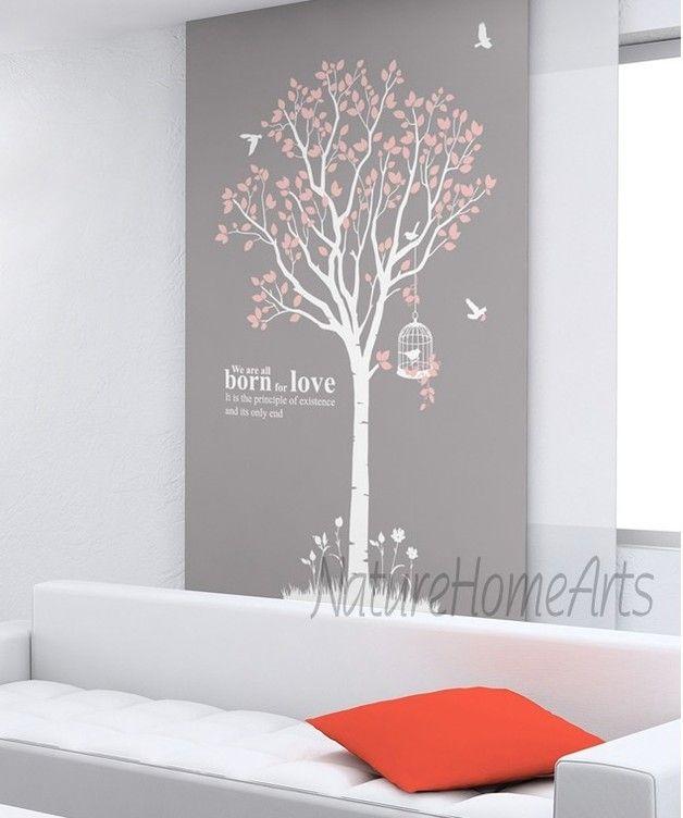 Wandtattoo Wanddekoration - Baum mit Vögeln | Wanddekoration ...