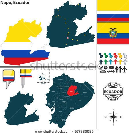 Vector map of province of napo with flags and location on ecuadorian vector map of spain with regions with flags buy this stock vector on shutterstock find other images gumiabroncs Choice Image