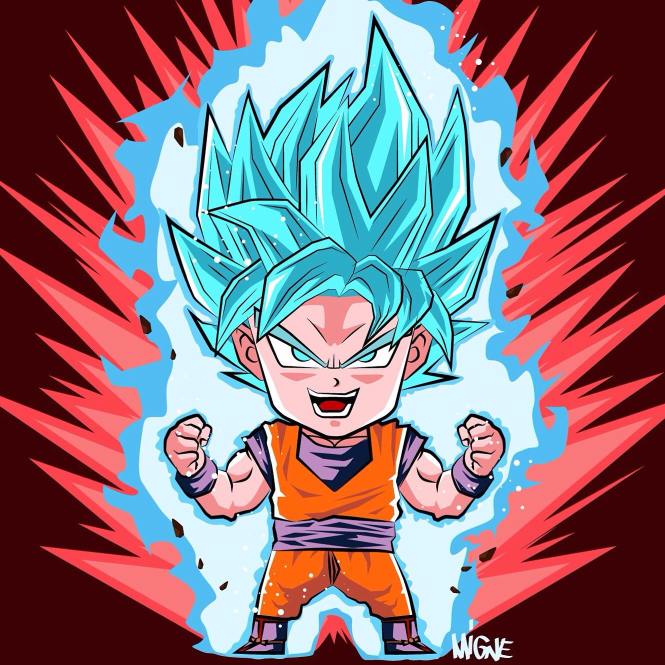 Chibi Goku Super Saiyan Blue Kaioken Visit Now For 3d