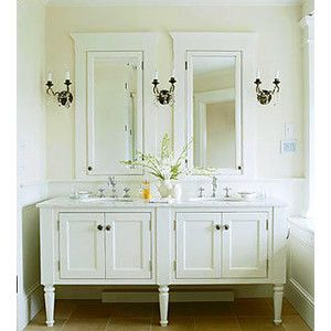 Photos Of Vintage Style Bathroom Vanities Love the vanities and the mirror and medicine cabinets Little too much white for me but overall it us great
