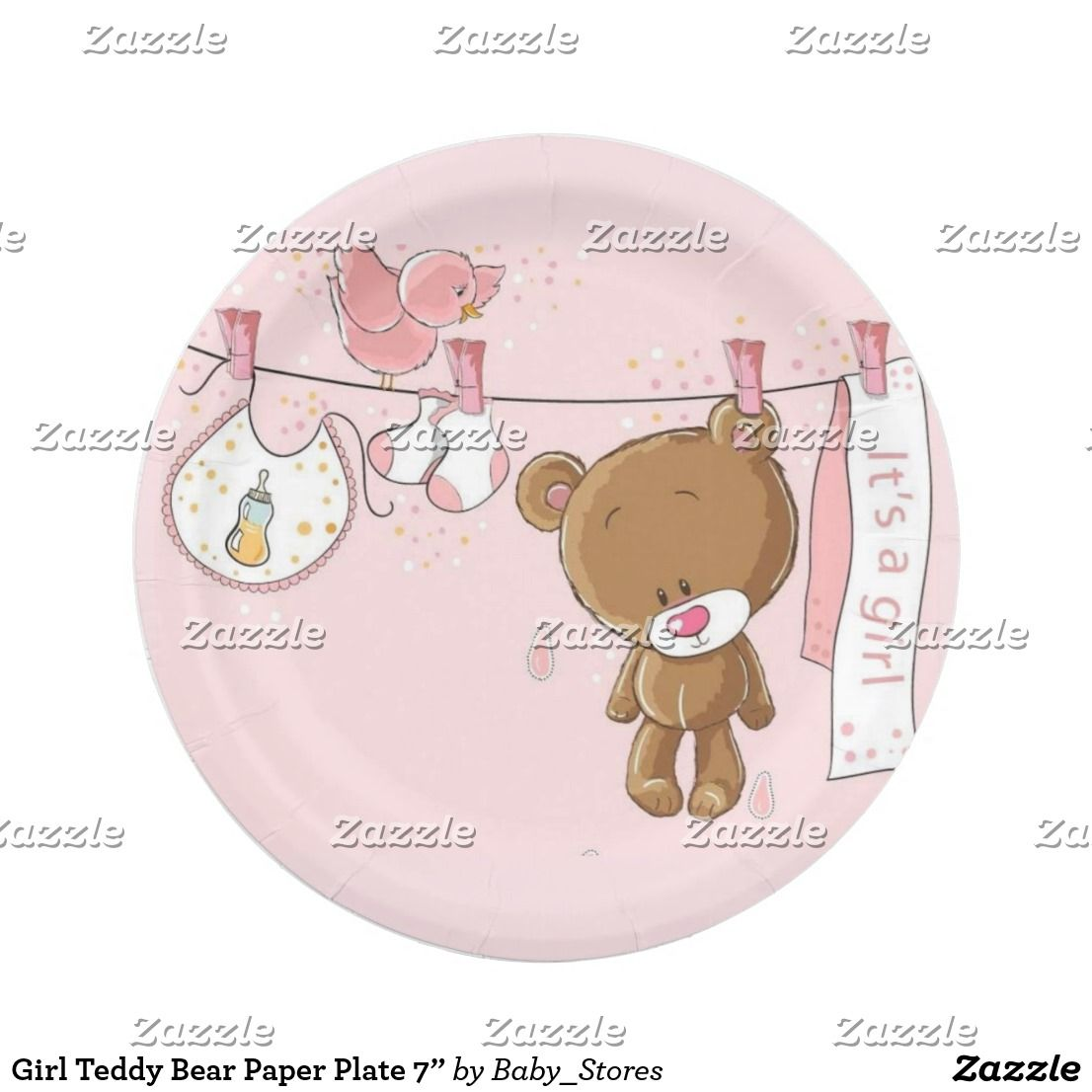 Explore Paper Plates Teddy Bears and more!  sc 1 st  Pinterest & Girl Teddy Bear Paper Plate 7u201d | Paper Plates | Pinterest