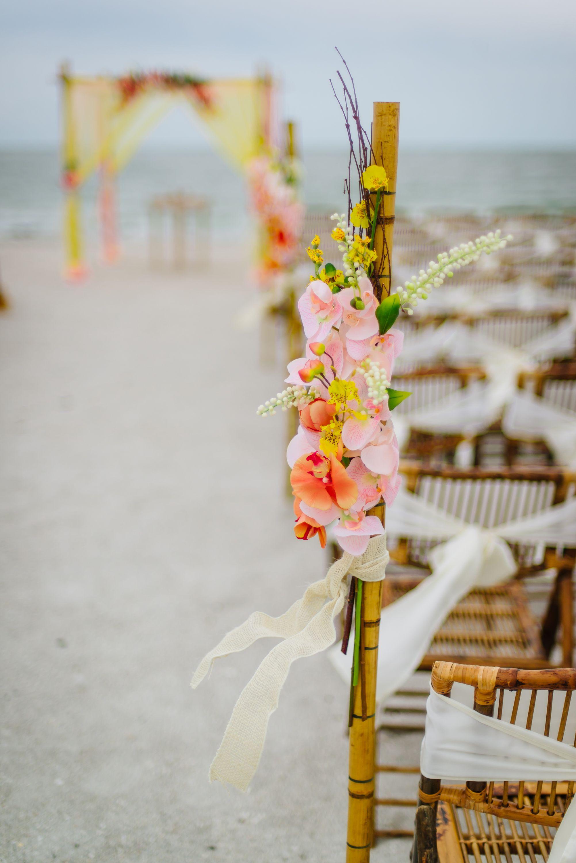 Tropical beach wedding aisle. | Orange Wedding Theme | Pinterest ...