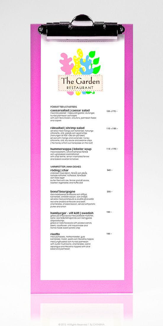 GRAPHICS Menu  Restaurant  Clipboard ☆ TheGarden