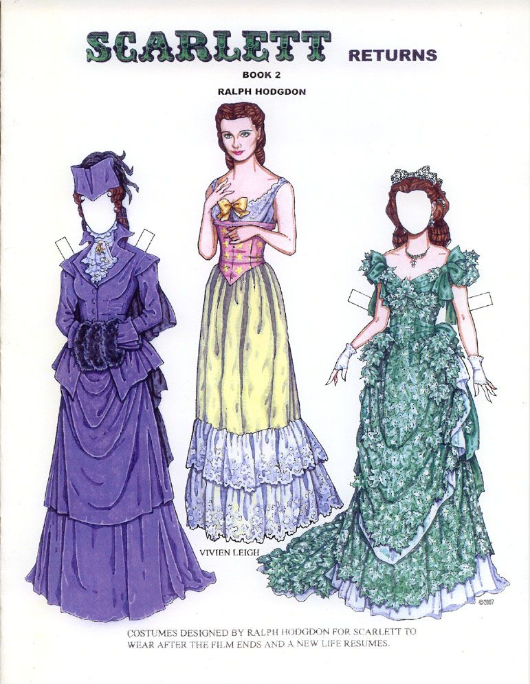 006 SCARLET RETURNS = A PAPER DOLL Paper dolls clothing