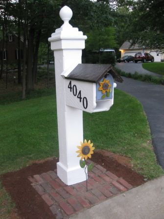 Cute idea for your mail box this Spring.