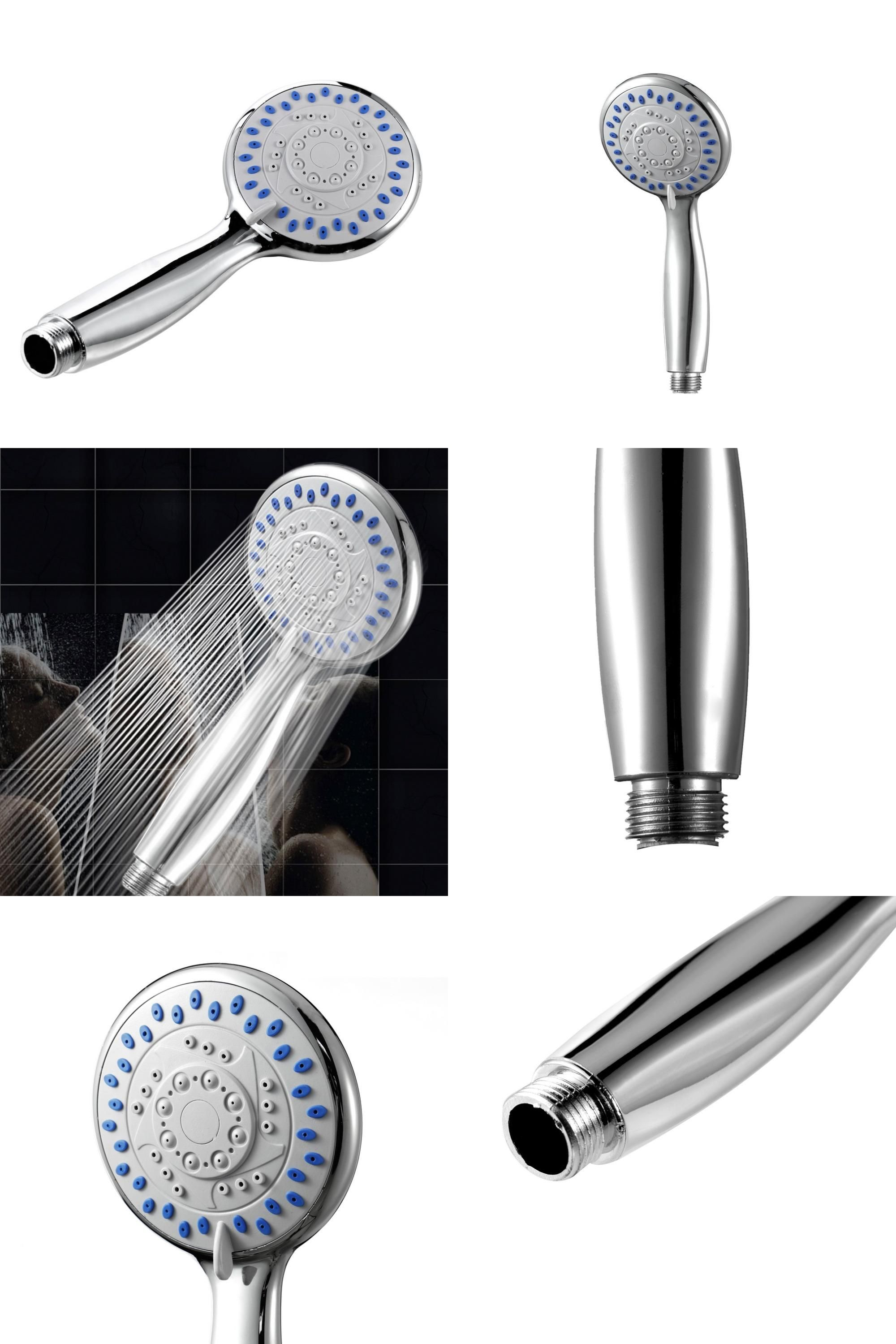 Visit to Buy] Large 5- Mode Function Chrome Bath Shower Head Handset ...
