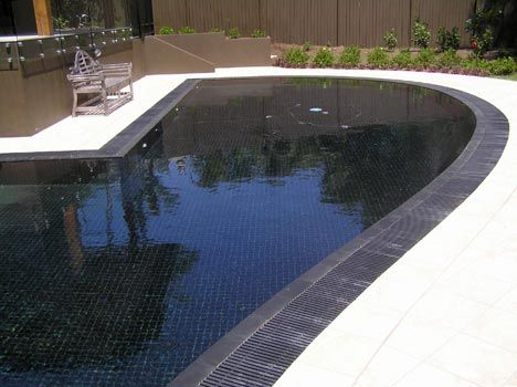Swimming Pools With Black Tiles Exterior Decor