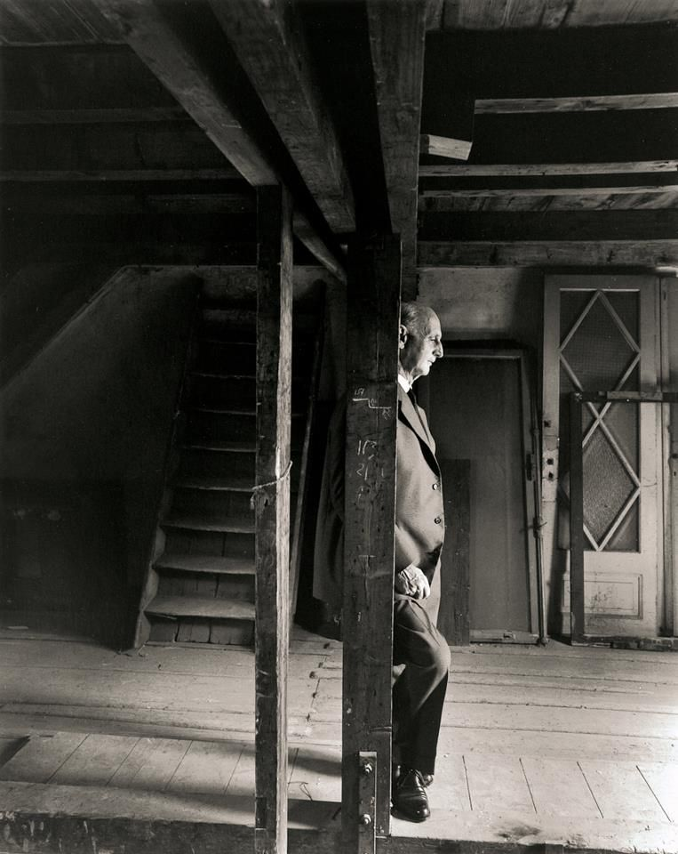 Otto Frank in the attic of the Secret Annex. This photo ...
