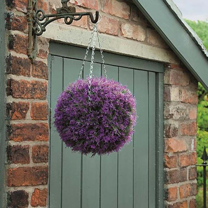 Heather Hanging Topiary Ball On Sale From Ireland S Garden Shop Artificial Topiary Topiary Boxwood Garden