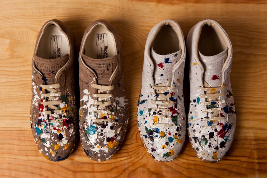 online retailer 2f1c1 bf5a3 Maison Martin Margiela Hand-Painted Color Drops Replica Sneakers