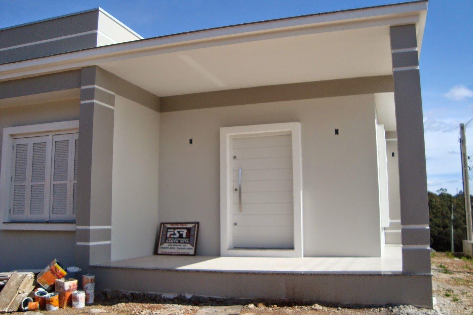 Casa cinza pintura fachada pinterest kitchenette for Frentes de casas pintadas