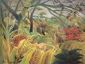 Tiger In A Tropical Storm   Surprised - Henri Julien  Rousseau - www.henrirousseau.org