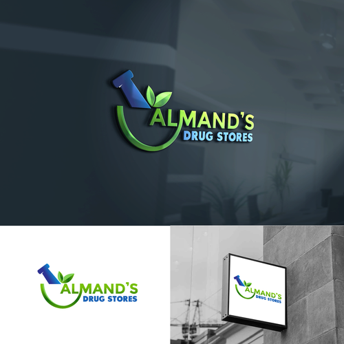 Almand S Drug Stores Keep An Independent Pharmacy In Business Give Us A New Logo We Consist Of Logo Branding Identity Pharmacy Design Branding Design Logo