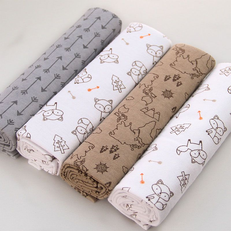 490309878b7d 4Pcs Cotton Supersoft Flannel Blanket for Newborn Babies