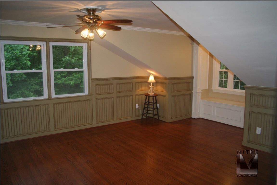 paneled beadboard wainscot with double panels and glazed