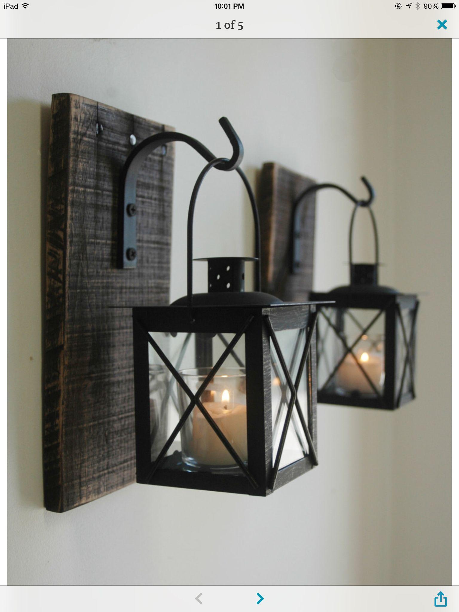 Wandlichter (Furniture Designs Rustic) | Lorena | Pinterest | Palets ...
