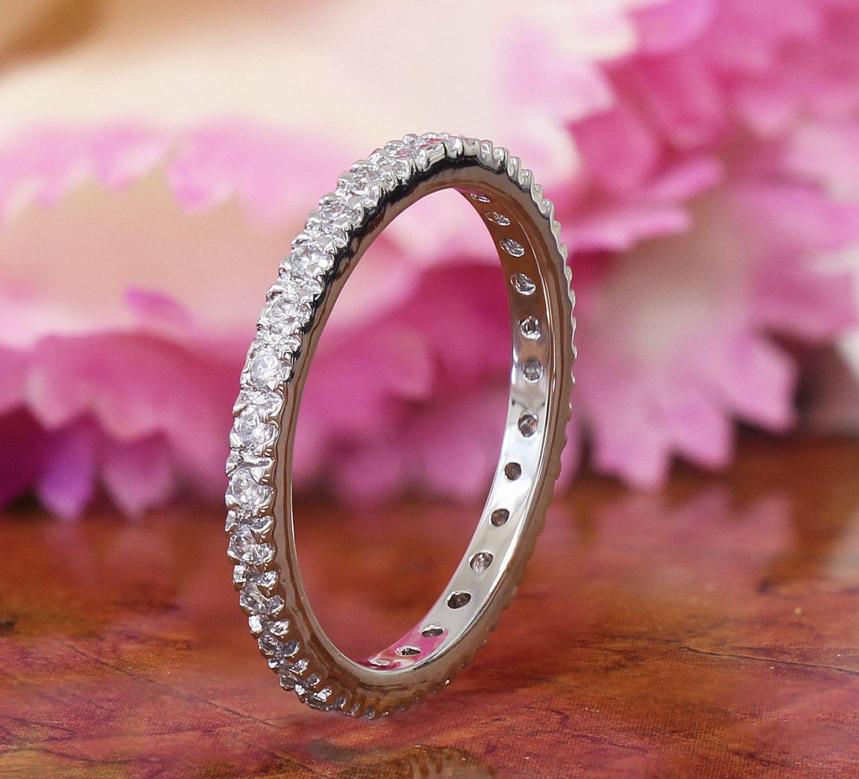 0.50ctw Prong Set Eternity Band, Wedding Band, Engagement Ring, Man ...