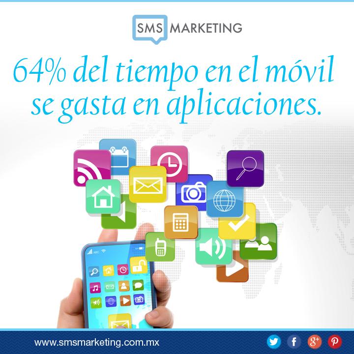 #SabiasQue el 64% del tiempo en el teléfono móvil se gasta en aplicaciones.