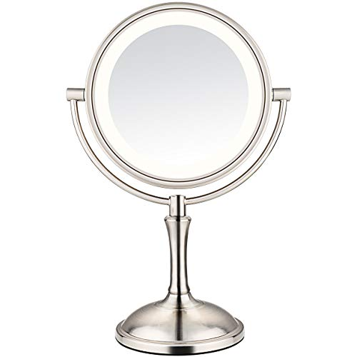 Amnoamno Led Makeup Mirror 10x Magnifying Led Makeup Mirror Makeup Mirror With Lights Lighted Vanity Mirror