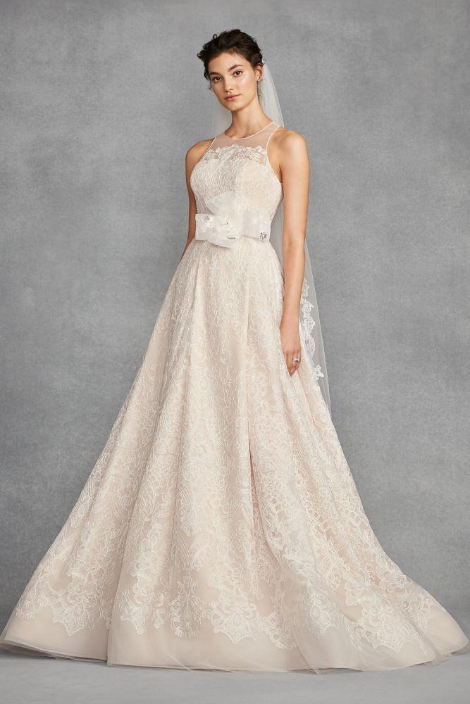 4989cdafcd94 White by Vera Wang Macrame Petite Wedding Dress | *David's Bridal ...