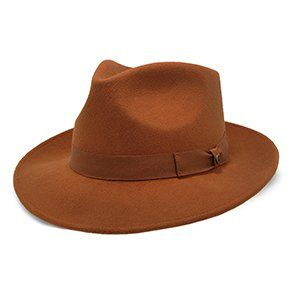 Freemont - Walrus Hats Cognac Wool Fedora Hat  c1596022a335