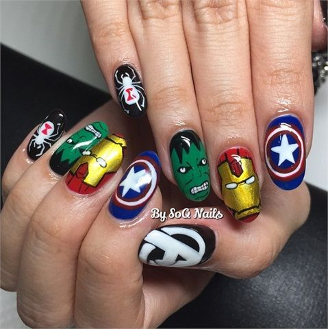 Comic Con Nails Book Nail Art For Heroes And Villains Magazine
