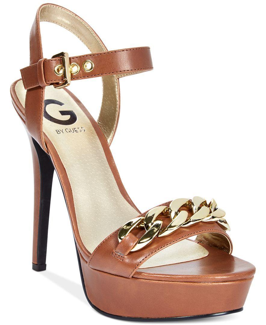G by Guess Womens Dawna TwoPiece Platform Dress Sandals