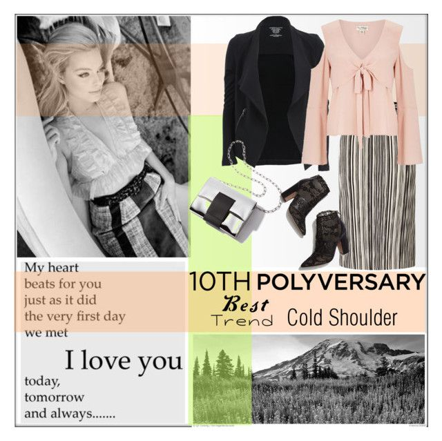 """""""Celebrate Our 10th Polyversary!"""" by pat912 ❤ liked on Polyvore featuring Majestic Filatures, Miss Selfridge, Valentino, polyversary, contestentry and polyvoreeditorial"""