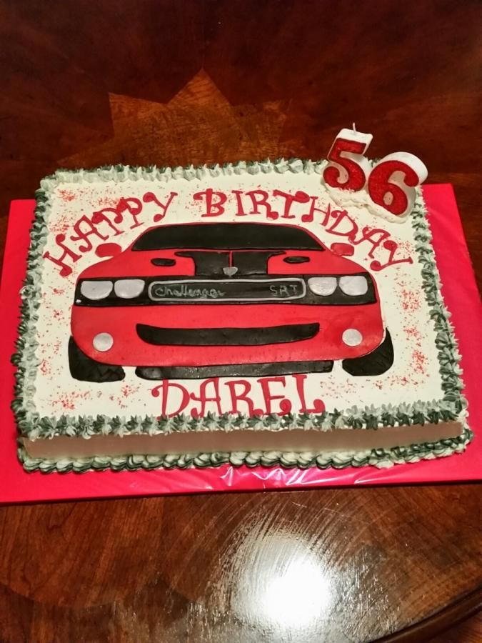 Dodge Challenger Birthday Cake - Cake by Terry Campbell   Mason ...