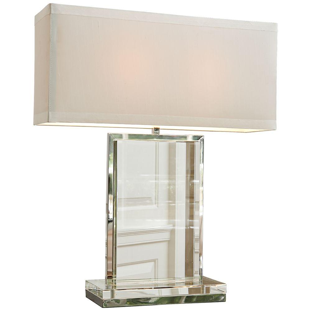 Clear Crystal Base Rectangular Table Lamp By Global Views 8g575 Lamps Plus Rectangular Table Lamp Lamp Crystal Lamp Base