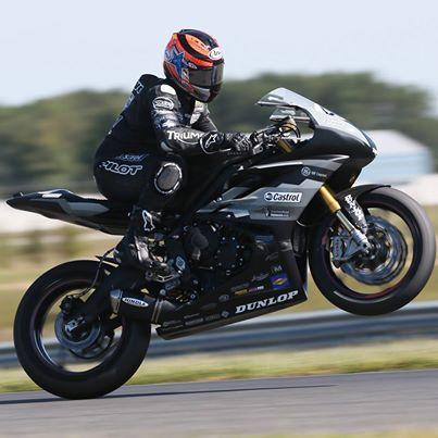 Jason Disalvo On His Latus Motors Racing Triumph Motorcycles Daytona 675r At New Jersey Motorsports Park