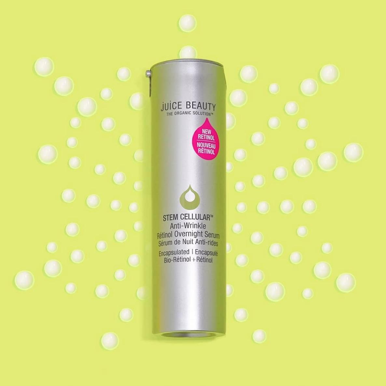 Juice Beauty Launches New Stem Cellular Anti Wrinkle Overnight Retinol Serum Mmirandalaurenn Retinol Serum Retinol Juice Beauty