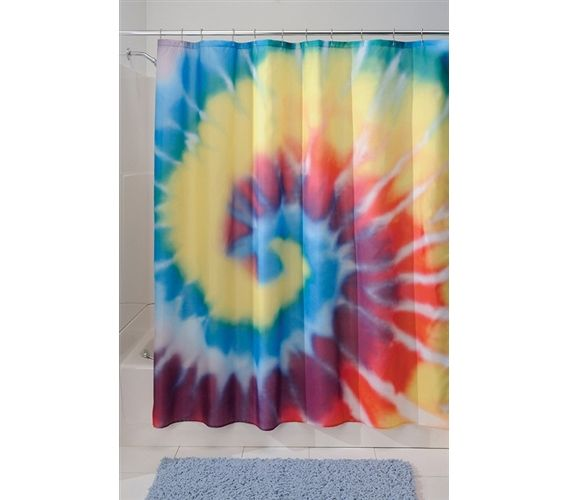 Cool Decor Item For Bathrooms   Tie Dye Shower Curtain   Fun Looking College  Decor