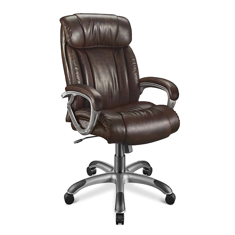 Realspace Fosner High Back Bonded Leather Chair Beach Chairs Waincliff Executive Espresso
