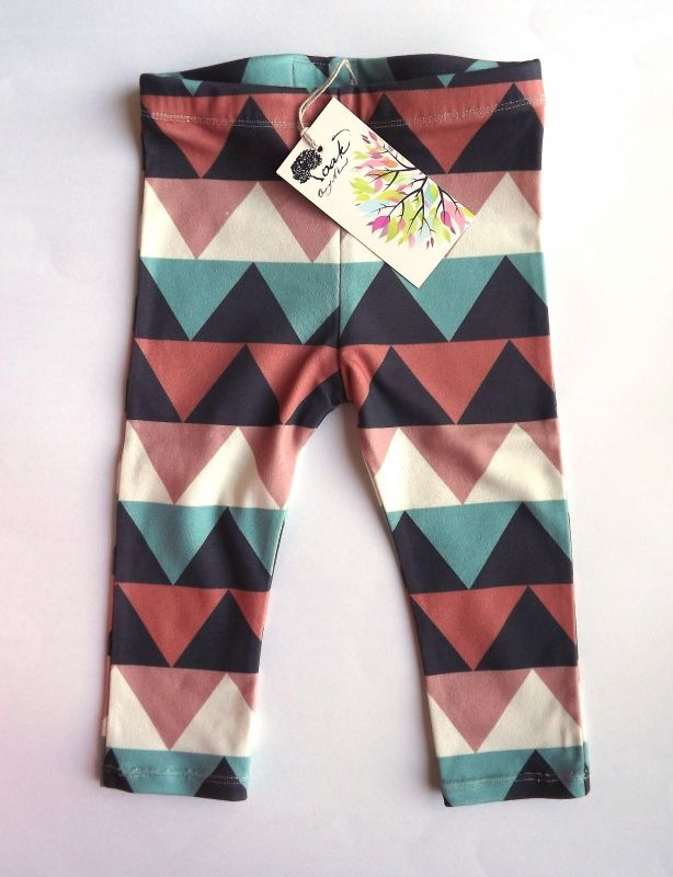 Aztec Triangle leggings by Kindred Oak created with my @Spoonflower organic knit fabric :)