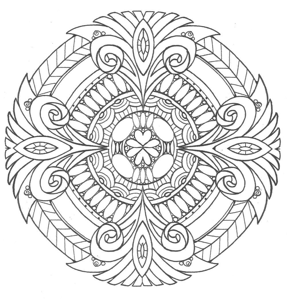 Pure royalty adult coloring page mandalmania pinterest coloriage - Colorier mandala ...