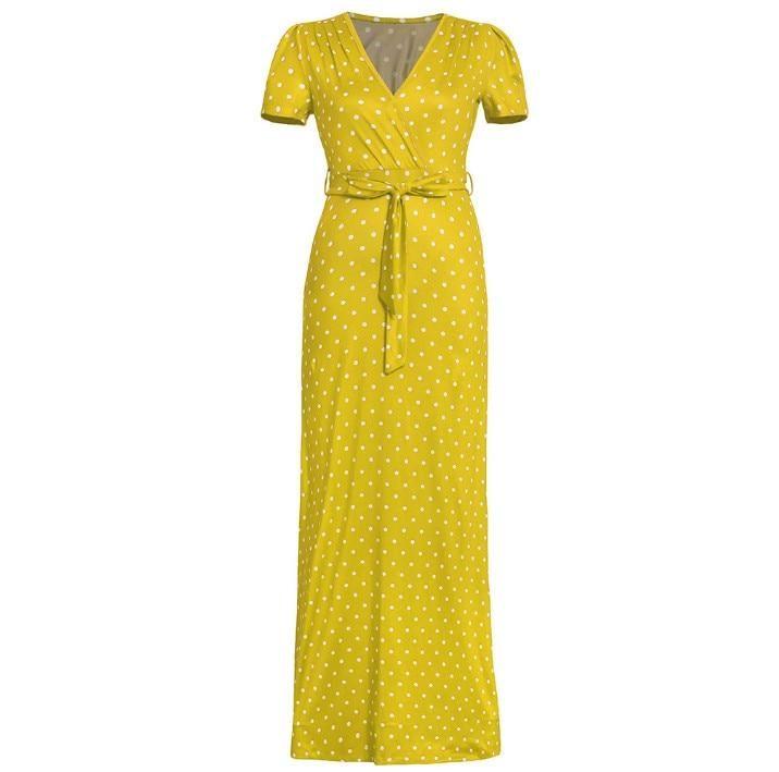 Boho  Dress Long for Women Plus Size Short Sleeve Loose Casual Butt…